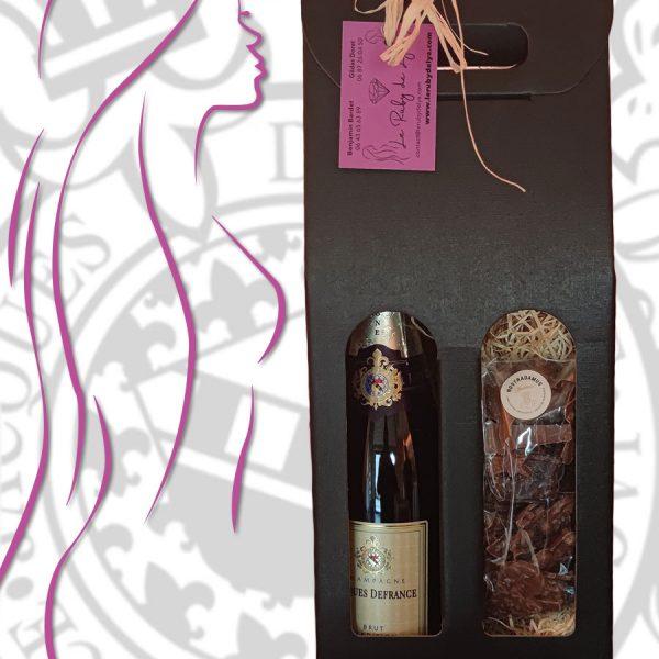 Coffret Champagne et Chocolat - le Ruby de Lya